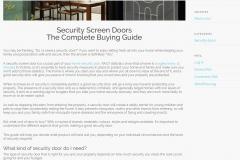 Web copy: Valesco Security Doors