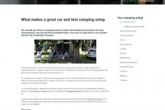 Web copy: Set to Camp - Our setup